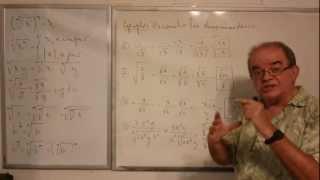 Algebra Intermedia - Lección 8 - B (racionalización De Denominadores)