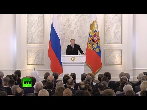 Владимир Путин выступает с посланием