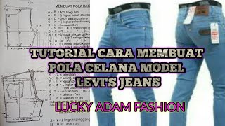 Video Teori Cara Membuat Pola Celana MDL Levis,Lucky Adam Fashion MP3, 3GP, MP4, WEBM, AVI, FLV September 2018