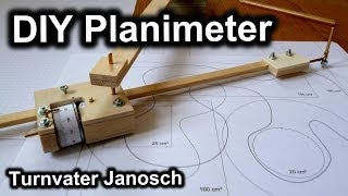 Homemade planimeter by Turnvater Janosch, YouTube video thumbnail