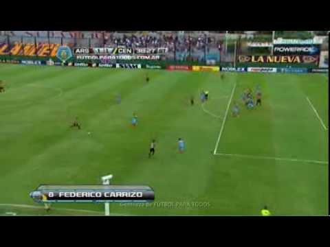 Gol de Carrizo. Arsenal 1 - Rosario Central 1. Fecha 8. Torneo Final 2014. FPT