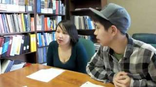 NS students make a short skit - how two people learned Inuktitut in one week.