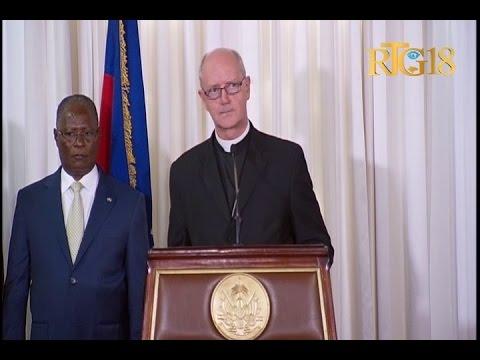 Le Président provisoire d'Haïti, Jocelerme Privert a reçu le Corps diplomatique