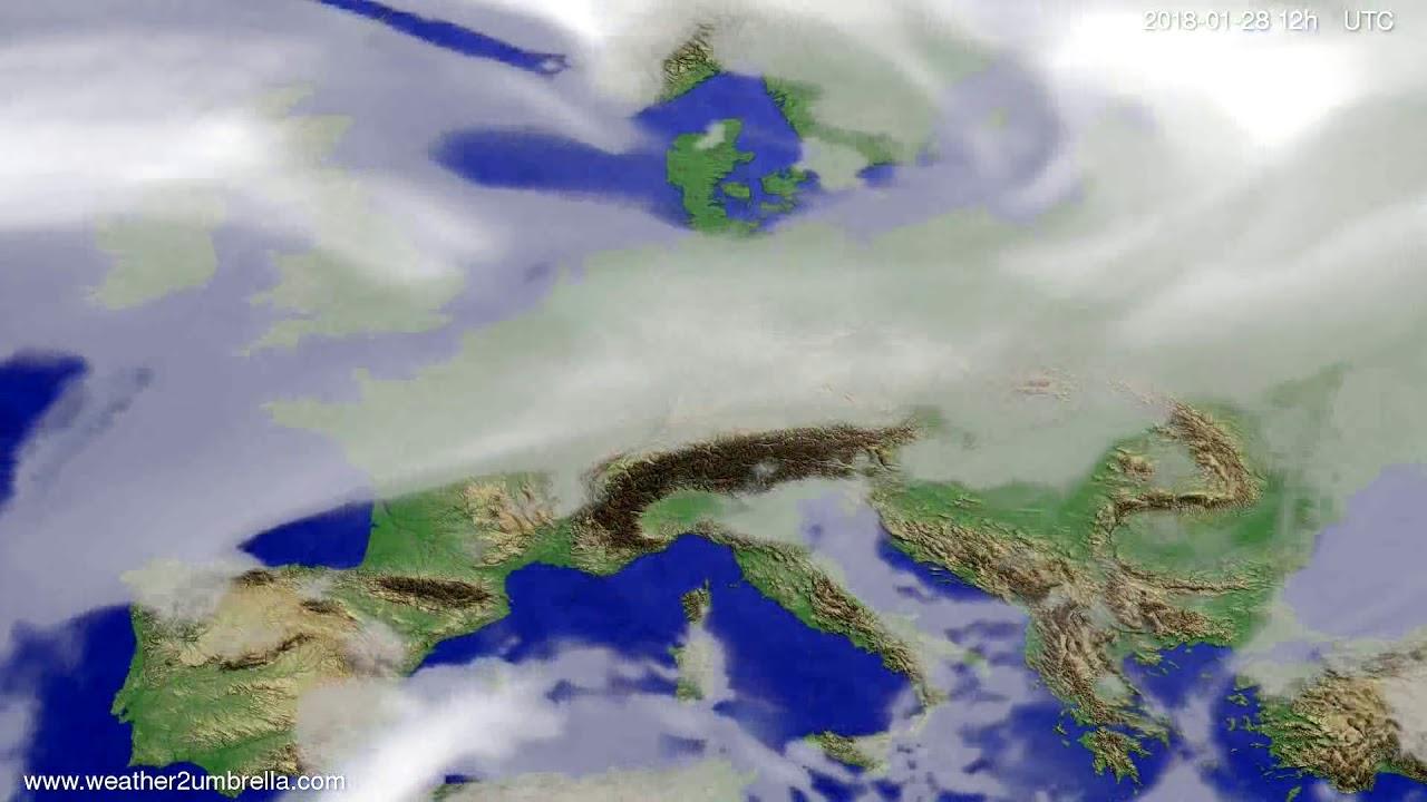Cloud forecast Europe 2018-01-24