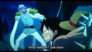One Piece Film Gold  Luffy Hits Spandam With A Monstrous Punch  ENG SUB