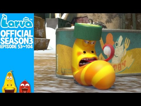 EXCLUSIVE - [Official] 90 MIN - LARVA- Season 3 Episode 53 ~ 104 (Final) (видео)