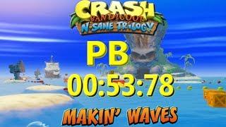 Video Makin' Waves PB 00:53:78 - Crash Bandicoot N Sane Trilogy MP3, 3GP, MP4, WEBM, AVI, FLV Juli 2019