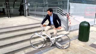 【スポークの無い自転車に未来を感じる】イタリアのエンジニアがデザインしたSada bikeがヨーロッパの見本市で話題に。