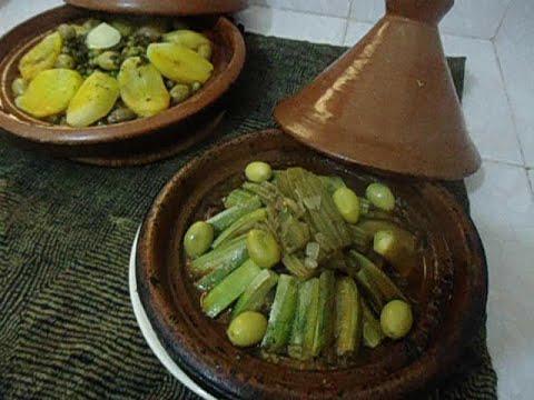 two tagine for a diabetic and the other for the normal moroccan cooking