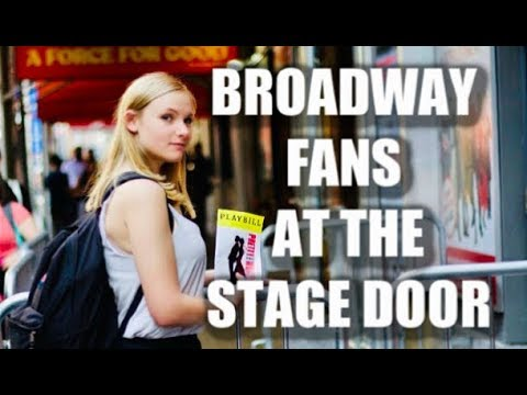 Types of BROADWAY FANS at the STAGE DOOR!