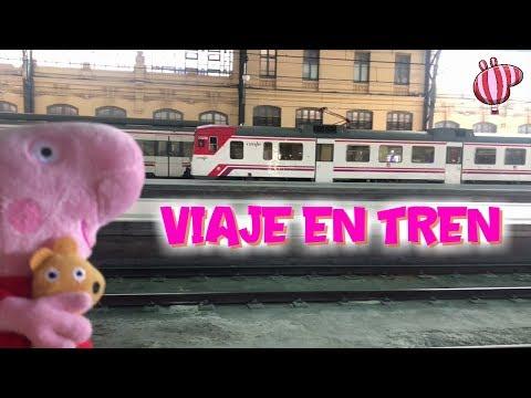 Peppa Pig 24 horas viajando en tren  Nuevo reto y vídeo de Peppa Pig en español