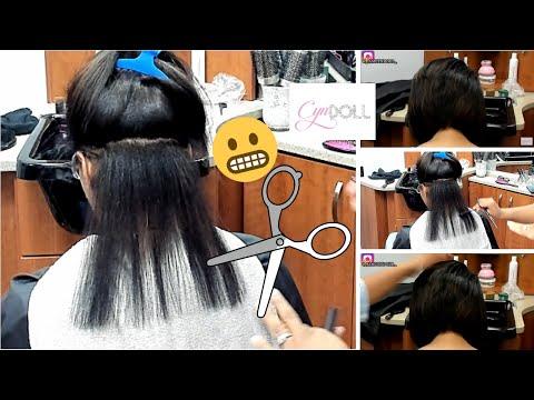 Cut correction! Silk Press & Bob Haircut