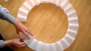 https://www.youtube.com/watch?v=WIiv-5Sjsnc How to make a snowman from plastic cups. Recommended: How to Make A Painting with Tissue Paper Flowers Step by St...