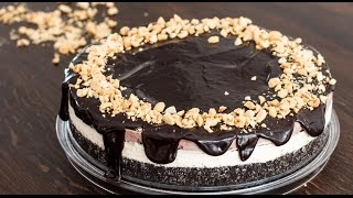 Chocolate Peanut Butter Ice Cream Cake Recipe by Home Cooking Adventure