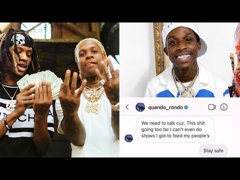 Lil Durk RESPONDS to Quando Rondo asking to be FORGIVEN for King Von
