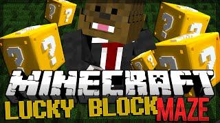 Minecraft Lucky Block Mod Maze PVP (Modded Minigame)