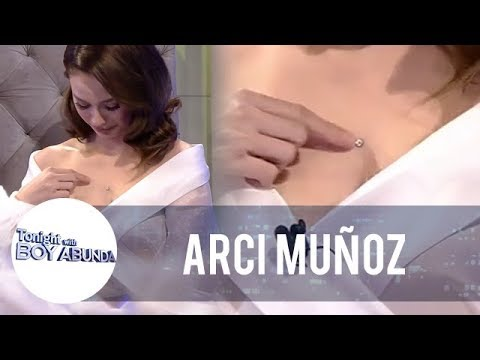 """Arci gets called by Piolo Pascual """"crazy"""" because of her chest piercing 