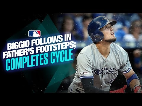 Video: Biggio follows in father's footsteps with cycle