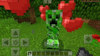 How To Make a Friendly Creeper in Minecraft Pocket Edition (Elemental Mobs Addon)