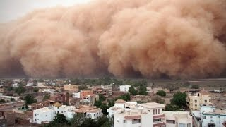 A huge dust storm called a haboob covered the Sudanese capital of Khartoum.