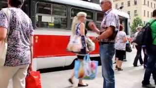 Brno Czech Republic  city images : Summer Tram Ride In Brno, Czech Republic 2015