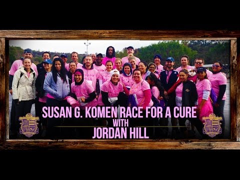 Video: Susan G. Komen Race For The Cure 2014 With Lakers Jordan Hill