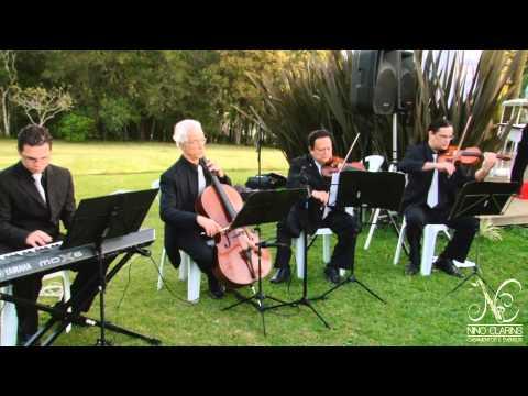 As mais belas entradas para casamento ao ar livre chácara do Lagos Trio de cordas e teclado