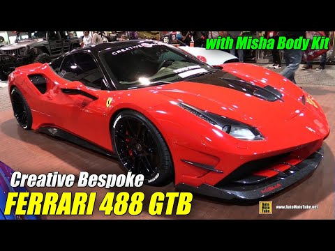 2017 Ferrari 488 GTB Creative Bespoke With Misha Body Kit - Exterior Walkaround - 2017 SEMA