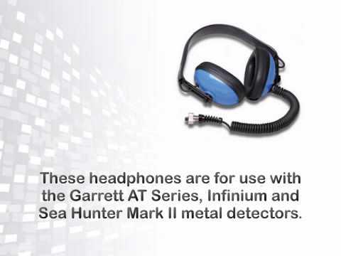 Garrett Submersible Headphones for AT Series, ATX, Infinium LS and Sea - metaldetector.com