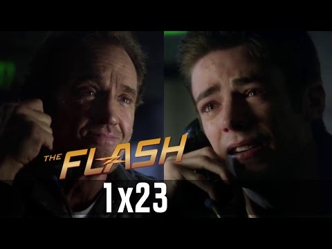 The Flash 1x23 - Barry talking to his dad