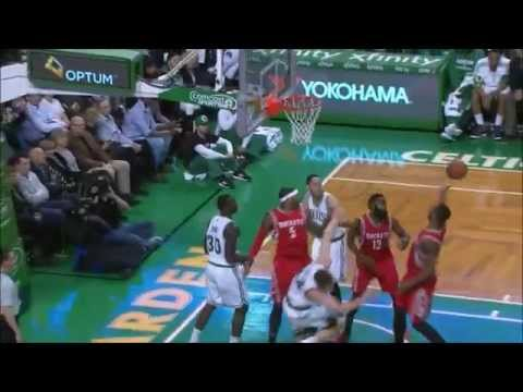 Josh Smith stuffs Tyler Zeller, Terrence Jones follows with a block