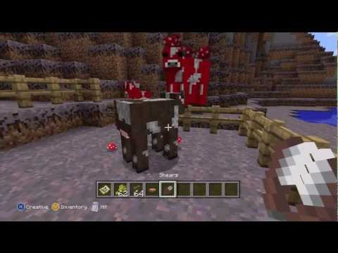 Minecraft Xbox 360 - Title Update 7 - Mushroom Biomes and Mooshrooms. (with seed number)
