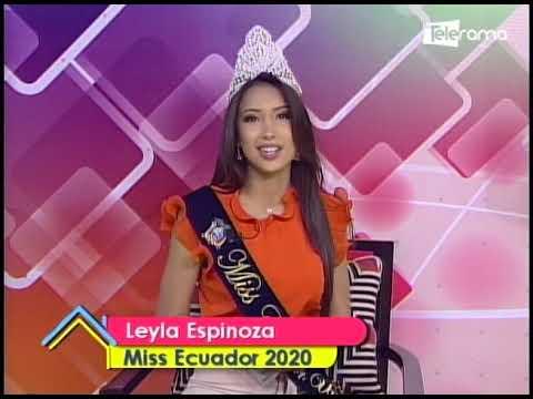 Nos visita la nueva Miss Ecuador Leyla Espinoza