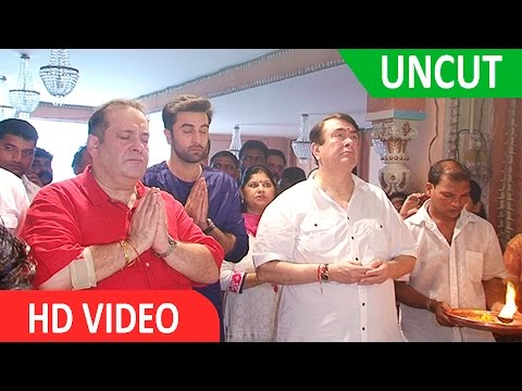 UNCUT - Ranbir Kapoor At RK Studio Ganpati Pooja