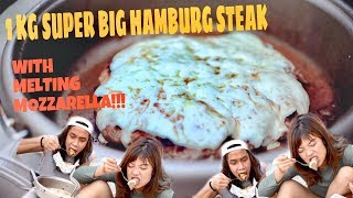 Video SUPER BESAR 1 KG HAMBURG STEAK BALUT MOZARELLA!!! MP3, 3GP, MP4, WEBM, AVI, FLV November 2018