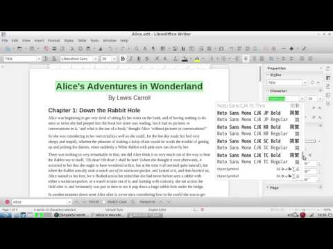 LibreOffice Writer: The Basics
