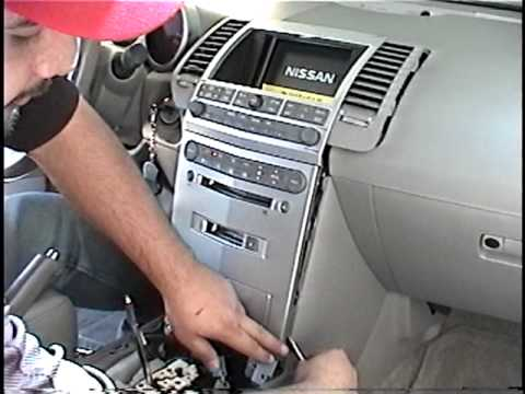 how to remove a cd player from a nissan x trail