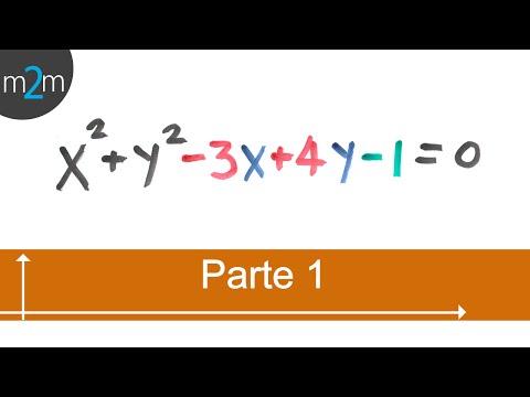 Holen Mittelpunkt und Radius eines allgemeinen Gleichung des Kreises (Teil 1/2)
