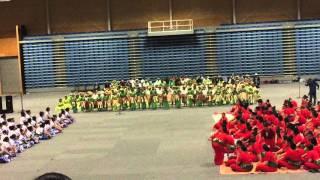 Performance by the Nukunonu children during the Tokelau Language week.