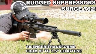 Rugged Suppressors Surge 762! Transforming Rifle Silencer