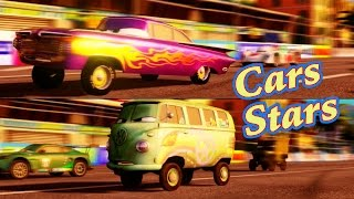 Cars 2 race with FIllmore and Ramone from Cars 2 : the Video Game - 2 player split screen on Mountain Run.