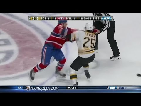 Fraser - Matt Fraser vs Nathan Beaulieu from the Boston Bruins at Montreal Canadiens game on Nov 13, 2014. via http://www.hockeyfights.com.