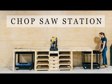Woodworking table - DIY Chop Saw Station
