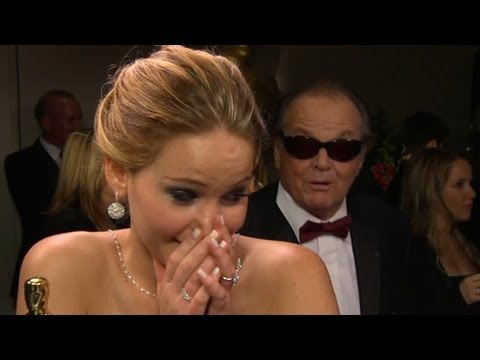 Jennifer Lawrence%2C Jack Nicholson Interruption Makes Waves After Oscars%3B Anne Hathaway on Big Win