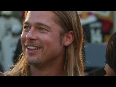 Brad Pitt shows fans the love at World War Z premiere Video