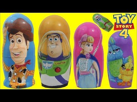 I Open Toy Story 4 Nesting Matryoshka Dolls