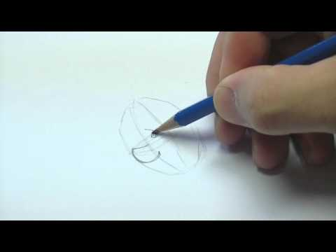 Einfachen Cartoon Kopf zeichnen (how to draw a cartoon head)