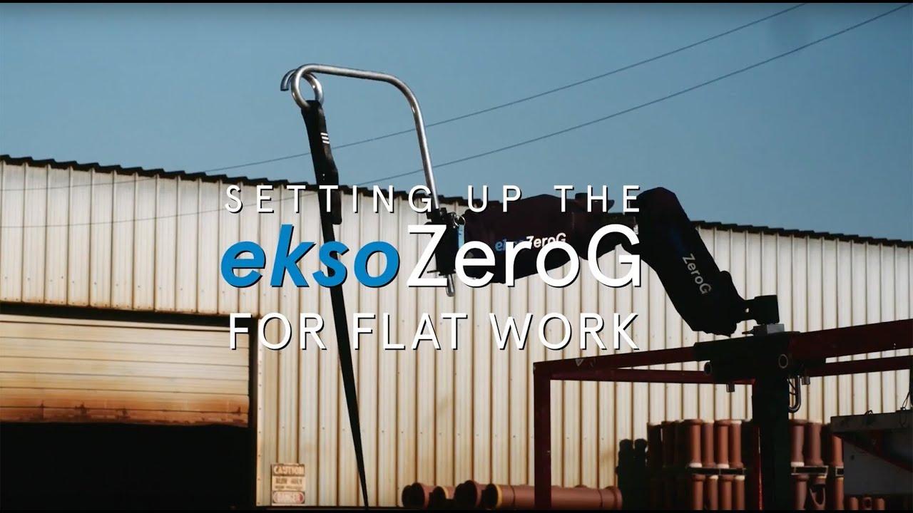 平面工作的EksoZeroG设置