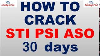 How to crack combined STI PSI ASO MPSC Exam In 30 Days  must watch