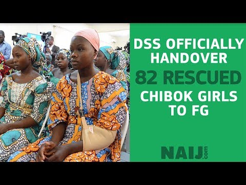 DSS officially handover 82 rescued Chibok girls to FG for further psychotherapy treatment Legit TV